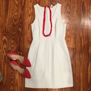 Jcrew cream sheath dress size 4